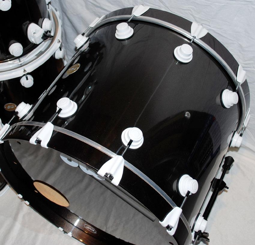 dw collectors series shell drumset black mirra 5 teilig. Black Bedroom Furniture Sets. Home Design Ideas