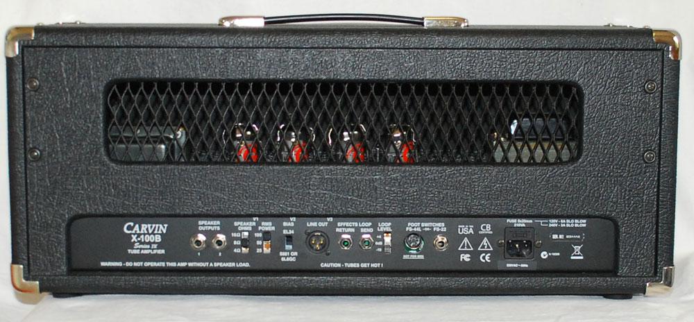 carvin x100b 80 39 s style gitarren topteil showroom ebay. Black Bedroom Furniture Sets. Home Design Ideas