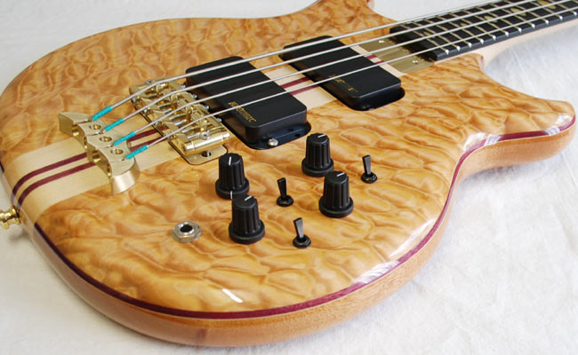 alembic stanley clarke standard 4 chocolate quilted maple. Black Bedroom Furniture Sets. Home Design Ideas